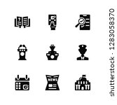 vector illustration of 9 icons. ... | Shutterstock .eps vector #1283058370