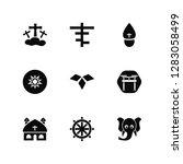 vector illustration of 9 icons. ...   Shutterstock .eps vector #1283058499