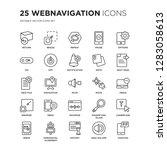 set of 25 webnavigation linear... | Shutterstock .eps vector #1283058613