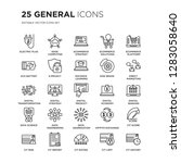 set of 25 general linear icons... | Shutterstock .eps vector #1283058640