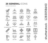set of 25 general linear icons... | Shutterstock .eps vector #1283058643