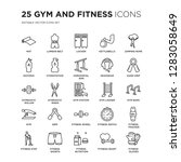 set of 25 gym and fitness... | Shutterstock .eps vector #1283058649