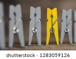 colorful clothespin against of... | Shutterstock . vector #1283059126