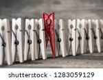 colorful clothespin against of... | Shutterstock . vector #1283059129