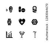 vector illustration of 9 icons. ... | Shutterstock .eps vector #1283064670