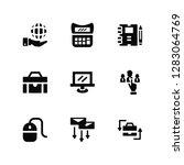 vector illustration of 9 icons. ... | Shutterstock .eps vector #1283064769