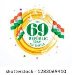 vector illustration . republic... | Shutterstock .eps vector #1283069410