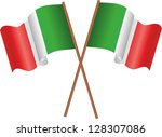 illustration of two flags of... | Shutterstock . vector #128307086