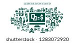 leisure icon set. 93 filled... | Shutterstock .eps vector #1283072920