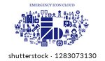 emergency icon set. 93 filled... | Shutterstock .eps vector #1283073130