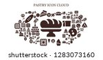 pastry icon set. 93 filled...   Shutterstock .eps vector #1283073160