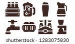 lager icon set. 8 filled lager ... | Shutterstock .eps vector #1283075830