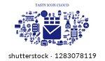 tasty icon set. 93 filled... | Shutterstock .eps vector #1283078119