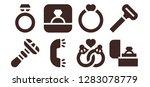 groom icon set. 8 filled groom ... | Shutterstock .eps vector #1283078779