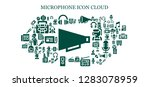 microphone icon set. 93 filled ... | Shutterstock .eps vector #1283078959