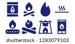 bonfire icon set. 8 filled... | Shutterstock .eps vector #1283079103