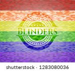 blinders on mosaic background... | Shutterstock .eps vector #1283080036