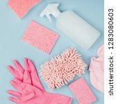 detergents and cleaning...   Shutterstock . vector #1283080603
