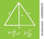 hand drawn equilateral triangle ... | Shutterstock .eps vector #1283085670