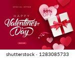 valentines day. vector... | Shutterstock .eps vector #1283085733