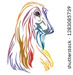 colorful decorative portrait of ... | Shutterstock .eps vector #1283085739