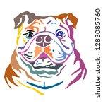 colorful decorative portrait of ... | Shutterstock .eps vector #1283085760