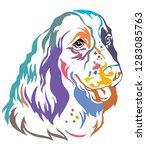 colorful decorative portrait of ... | Shutterstock .eps vector #1283085763