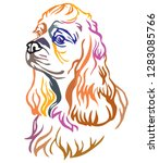 colorful decorative portrait of ... | Shutterstock .eps vector #1283085766