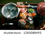 thai noodle food making on... | Shutterstock . vector #1283088493