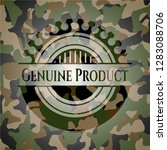 genuine product on camo pattern | Shutterstock .eps vector #1283088706
