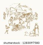 biblical hebrew religion... | Shutterstock .eps vector #1283097580