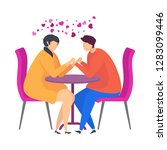 date in a cafe  gentle words  a ... | Shutterstock .eps vector #1283099446