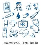 Set Of Hand Drawn Medical...