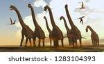 Brachiosaurus Dinosaurs On Tre...