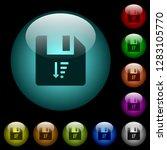 descending file sort icons in... | Shutterstock .eps vector #1283105770