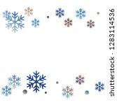 winter snowflakes and circles... | Shutterstock .eps vector #1283114536
