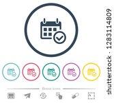 calendar check flat color icons ... | Shutterstock .eps vector #1283114809