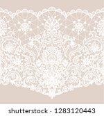 horizontally seamless beige... | Shutterstock .eps vector #1283120443