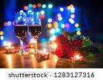 valentines dinner romantic love ... | Shutterstock . vector #1283127316