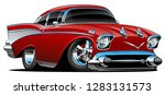 classic hot rod 57 muscle car ... | Shutterstock .eps vector #1283131573