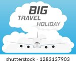 plane airplane is flying in the ... | Shutterstock .eps vector #1283137903