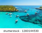 aerial view of boats  luxury... | Shutterstock . vector #1283144530