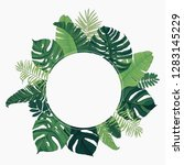 tropical frame circle | Shutterstock .eps vector #1283145229