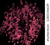 round frame of musical notes.... | Shutterstock .eps vector #1283146639