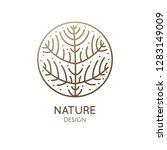 flower plant logo template....   Shutterstock .eps vector #1283149009
