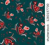 seamless pattern hand drawn...   Shutterstock .eps vector #1283157730