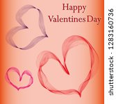 happy valentines day background ... | Shutterstock .eps vector #1283160736