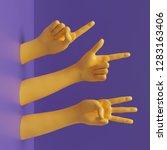 3d Render  Female Hands...