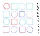 hand drawn  frames set in... | Shutterstock .eps vector #1283180026