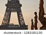 view of the eiffel tower at... | Shutterstock . vector #1283181130